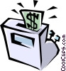 Vector Clip Art graphic  of a cash registers