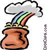 Pot of gold Vector Clipart illustration