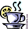 Vector Clipart picture  of a Hot tea
