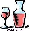 Vector Clipart illustration  of a Carafe of wine