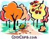 Fall scene Vector Clip Art picture