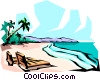 Vector Clipart graphic  of a Beach