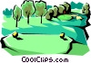 Vector Clipart graphic  of a Golf course