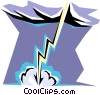 Vector Clipart illustration  of a Lightening