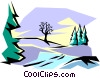 Vector Clip Art picture  of a Winter scene