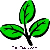 Vector Clip Art image  of a Leaf design