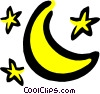 Vector Clipart image  of a Moon