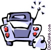 Vector Clip Art picture  of a Classic car cartoon