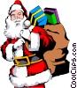 Vector Clipart illustration  of a Santa Claus