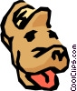 Slippers with a dog's face Vector Clipart image