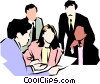 People meeting Vector Clipart graphic