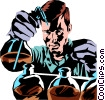 Vector Clip Art graphic  of a Scientist