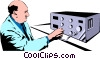 Vector Clipart graphic  of a Lab technician