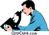 Vector Clip Art picture  of a Lab technicians