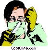 Lab technician Vector Clip Art graphic
