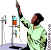 Vector Clipart image  of a Lab technicians