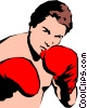 Vector Clipart picture  of a Boxer