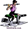 Vector Clip Art picture  of a Woman working out