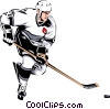 Vector Clip Art image  of a Hockey player