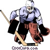 Vector Clipart graphic  of a Hockey Goalie
