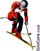 Downhill Skier Vector Clip Art picture