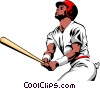 Baseball batters Vector Clipart picture