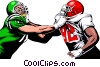 Vector Clipart graphic  of a Football players