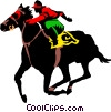 Horse race Vector Clipart illustration