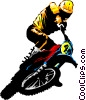 Motocross rider Vector Clipart illustration