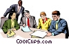 People meeting Vector Clipart illustration