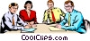 Vector Clip Art image  of a Men & women meeting