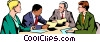 Men & women meeting Vector Clipart image