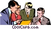 Vector Clipart picture  of a Men & women meeting