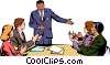 Vector Clipart graphic  of a Men & women meeting