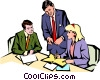 Vector Clipart image  of a Men & women meeting