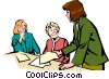 Women meeting Vector Clipart illustration
