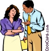 Vector Clip Art graphic  of a Man & women