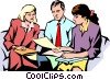 Vector Clipart illustration  of a Man & women meeting