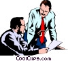 Vector Clip Art picture  of a Men meeting