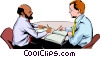 Men meeting Vector Clip Art graphic