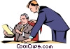 Vector Clipart image  of a Men meeting