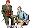 Men meeting Vector Clipart picture