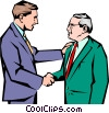 Vector Clipart picture  of a Men meeting