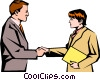Man & women meeting Vector Clipart graphic