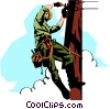 Vector Clip Art image  of a Hydro worker