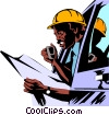 Vector Clip Art picture  of a Construction foreman