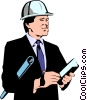 Vector Clipart graphic  of a Construction architects