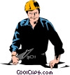 Vector Clip Art graphic  of a Construction foreman