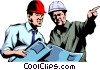 Vector Clipart graphic  of a Construction workers