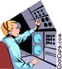 Air traffic controllers Vector Clip Art graphic
